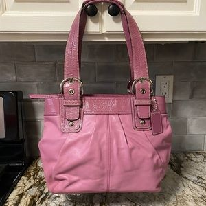 Coach Pleated Leather Tote